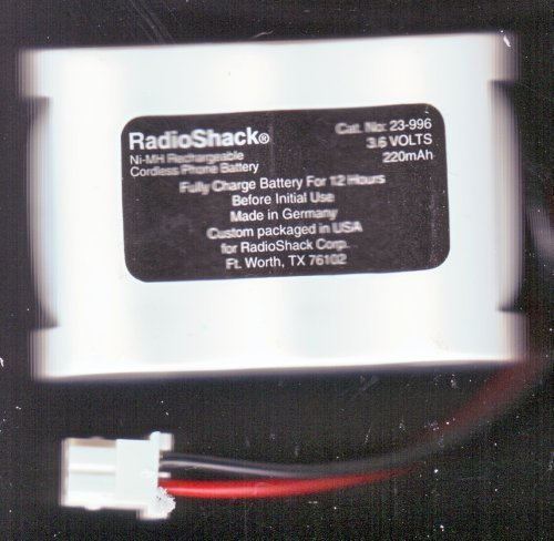 Radio Shack / Radioshack 23-996 Cordless Telephone Nickel-Metal Hydride Rechargeable Battery front-334897