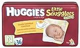 Huggies Little Snugglers Diapers, Newborn, 36-Count (Pack of 2)