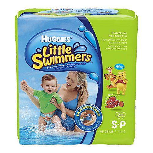 Huggies Little Swimmers Disposable Swimpants, Small, 20 Count (Character May Vary) - 1