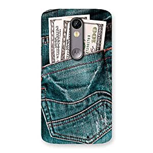Special Dollars Jeans Back Case Cover for Moto X Force