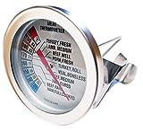 燻製専用 中温ゲージ ホワイト 温度計 54-88度スケール 摂氏 華氏