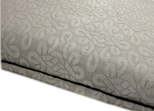 Vera Wang Love Knots Matelasse Coverlet Queen Cotton Quilt Gray