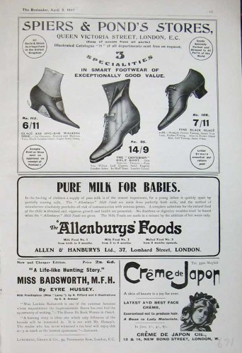 1907 Spiers Ponds Footwear Shoes Allenbury Face Cream