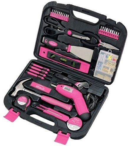 Apollo Precision Tools DT0773N1 135-Piece Household Pink Tool Kit