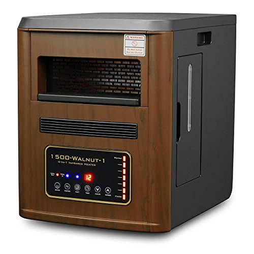 XtremepowerUS 4 in 1 All Season 1500W Quartz Infrared Heater Humidifier Plasma Inverter Air purifier (Cherry) (Xtreme Power Quartz Heater compare prices)