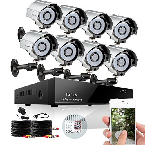 Best Prices! Funlux Waterproof 8 Channel 960H HDMI DVR  Home Security Camera System