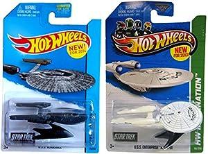 Star Trek Hot Wheels Set USS Enterprise & USS Vengeance IN PROTECTIVE CASES