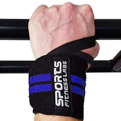 18-Wrist-Wraps-by-Sports-Fitness-Labs-A-Pair-of-Premium-Quality-Adjustable-Velcro-Straps-and-Supportive-Thumb-Loop-Ideal-for-Weightlifting-Powerlifting-Bodybuilding-CrossFit-For-Women-Men