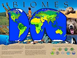 Biomes Poster Series - Laminated. Set of 10 Posters: Tundra, Polar, Desert, Deciduous Forest, Coniferous Forest, Marine, Freshwater, Rain Forest, and Grassland.