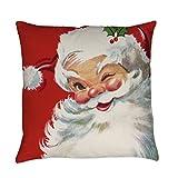Comi Vintage Christmas Jolly Santa Clau Square Pillowcase Cushion Cover Case 18