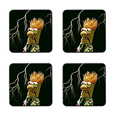 Funny Beaker Muppets Meme Customized Square Coasters 4 Piece Set Cup Mat Mug Can Water Bottle Drink Collector Kit Kitchen Table Top Desk