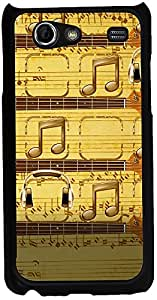 Printvisa 2D-SGSA-D7873 Music Notes Case Cover For Samsung Galaxy S Advance I9070