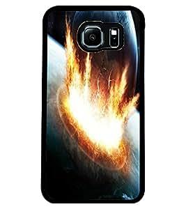 ColourCraft Galaxy Design Back Case Cover for SAMSUNG GALAXY S6 EDGE