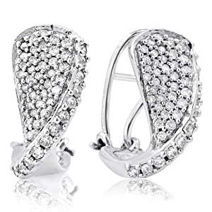 14K WHITE GOLD 1.00CTW DIAMOND EARRING