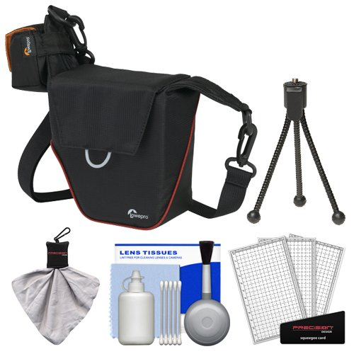 Lowepro Compact Ilc Courier 70 Interchangeable Lens Digital Camera Case (Black) With Accessory Kit For Sony Alpha A7, A7R, A3000, Nex-3N, Nex-5T, Nex-6, Nex-7, A7, Olympus Om-D Em-5, E-Pl5, E-Pm2, Nikon 1 Aw1, Panasonic G Series