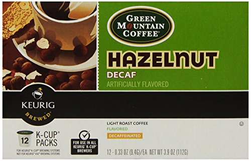 Keurig Green Mountain Coffee, Hazelnut Decaf, K-Cup Packs, 72 Count front-613477