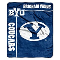 Buy NCAA Brigham Young Cougars 50-Inch-by-60-Inch Raschel Plush Throw School Spirit Design by Northwest
