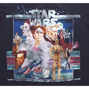 Mighty Fine Star Wars Vintage Poster Art T-Shirt Indigo