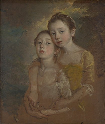 The Perfect Effect Canvas Of Oil Painting 'Thomas Gainsborough The Painter's Daughters With A Cat ' ,size: 12 X 14 Inch / 30 X 36 Cm ,this High Quality Art Decorative Canvas Prints Is Fit For Nursery Decoration And Home Decoration And Gifts (Sewing Machine Accesory Bible compare prices)
