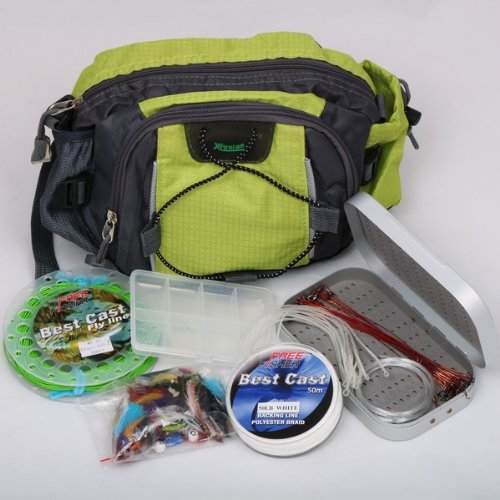 Fishing Tackles Waist Bag/Flies/Fly Box/Casting Line Leader Line
