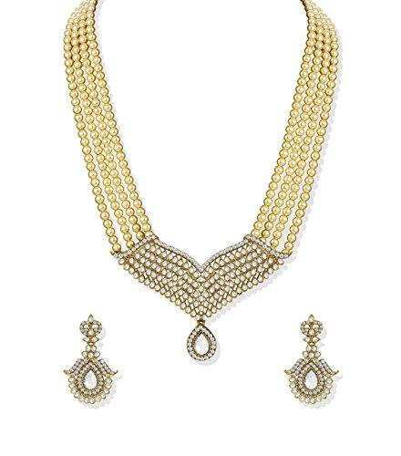 Zaveri Pearls Royal Princess Pearl Jewellery Necklace Set – ZPFK5215
