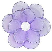 "Hanging Flower 8"" Medium Purple Glitter Nylon Daisy Flowers Decorations. Decorate a Baby Nursery Bedroom, Girls Room Ceiling Wall Decor, Wedding, Birthday Party, Bridal Baby Shower, Bathroom. Kids Childrens Daisies Wall Decoration 3D Art DIY Craft from Bu"