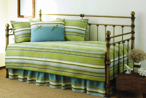 Find Cheap Stone Cottage 5-Piece Fresno Daybed Set, Green Stripe