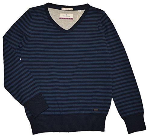 TOM TAILOR Kids - classy v-neck pullover - Pullover v-neck BOYS, Maglione per bambini e ragazzi, blu (1000), 10 anni (140 cm)