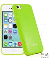 TheBlingZ.® New TPU Gel Jelly Rubber Silicone Slim Skin Phone Case Cover For iPhone 5C - Green
