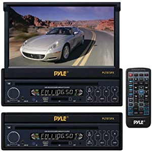 Pyle PLTS73FX 7-IN Single DIN In-Dash Motorized Touch Screen TFT/LCD Monitor w/ DVD/CD/MP3/MP4/USB/SD/AM-FM Player