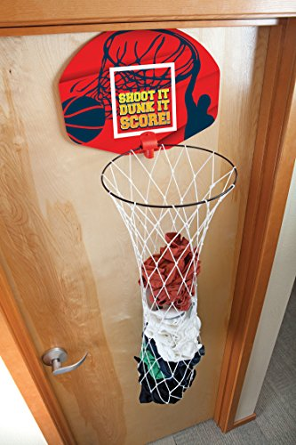 Basketball hoop laundry hamper clothes basket and hoop 2 in 1 over the door kids clothes hamper - Basketball hoop clothes hamper ...