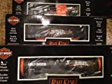 MTH Train O Scale Harley Davidson Motorcycle 3 Car Freight Set 30-7045 NIB
