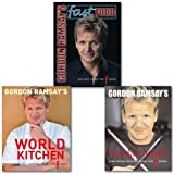 Gordon Ramsay Gordon Ramsay's Recipes from The F Word Collection Set, (Gordon Ramsay's Sunday Lunch:,Gordon Ramsay's World Kitchen & Gordon Ramsay's Fast Food)