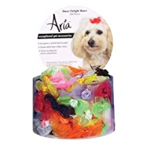 Aria Sheer Delight Dog Bows Canister 100-Pack