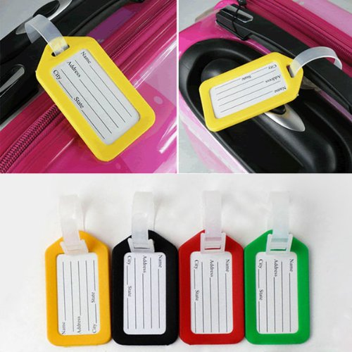 AODE® 7pcs/lot Luggage Tags Striped Bag Tags