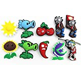 10pcs Plants Vs Zombies Shoe Charms for Fits Croc Shoes Wristband Party Gifts