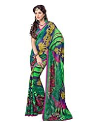 FadAttire Georgette Chiffon Printed Saree With Blouse FAPKS11