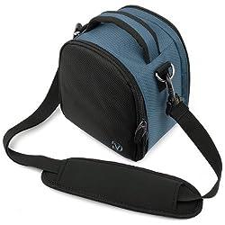 VanGoddy Laurel Camera Bag for Sony Cyber-shot DSC-H200 Digital SLR Camera (Dark Blue)