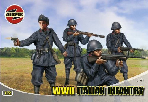 Buy Low Price Hornby Airfix A01757 1:72 Scale Italian Infantry Figures Classic Kit Series 1 (B000MTXJVG)