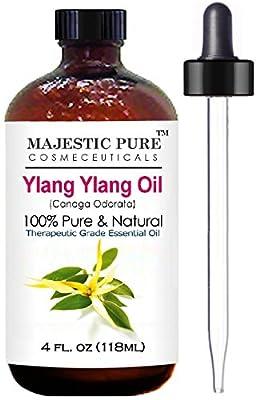 Majestic Pure Ylang Ylang (Cananga Odorata) Therapeutic Grade Essential Oil, 4 fl. oz.