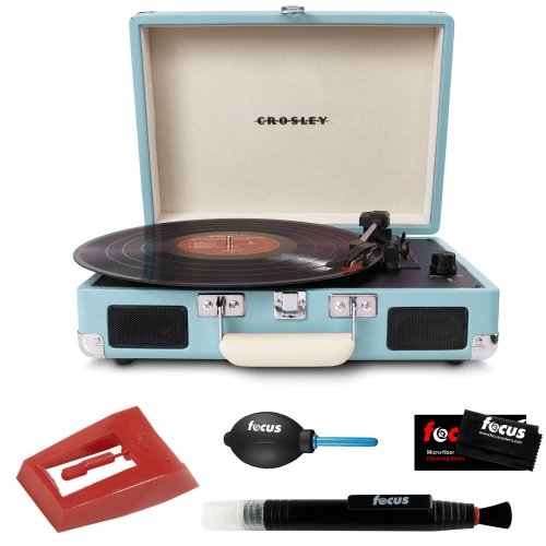 Merveilleux Crosley Cruiser Portable Turntable Turquoise + Crosley NP1 Replacement  Needle + Cleaning Pen + Dust Blower + Cleaning Cloth Reviews | Best  Turntables