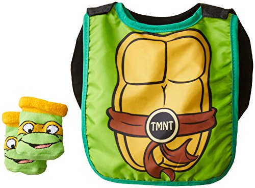 Baby-Boys Infant TMNT Caped Bib and Bootie Set - 1