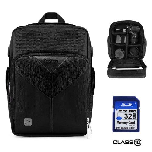Sparta Adventure Backpack Bag For Olympus Pen E-P5 / Pen E-Pl5 / Pen E-Pm2 Digital Camera + 32Gb Class 10 Sd Card