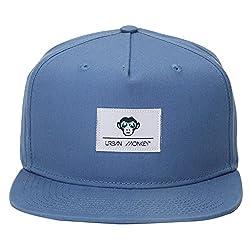 Urban Monkey Premium Light Beach Blue Label Adjustable Baseball Snapback Free Size Unisex Hip Hop Cap