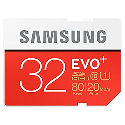 Samsung Evo Plus MB-SC32D/AM 32GB Class 10 UHS-1 (80Mbs/20Mbs) SDHC Memory Card