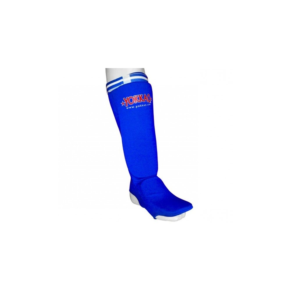Yokkao Blue Elastic Foam Shin Guards