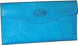 Buxton Heiress Organizer Clutch (Blue Jewel - Exclusive Color)