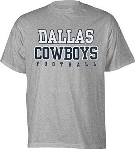 NFL Dallas Cowboys Grey Football Practice T-Shirt Mens Large