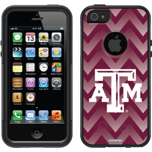 Great Price Texas A&M Gradient Chevron design on a Black OtterBox® Commuter Series® Case for iPhone 5s / 5