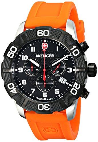 Wenger 010853103 Montre bracelet Homme, Silicone, couleur: orange
